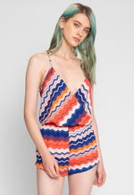Mixed Reactions Chevron Romper