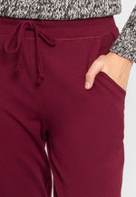 The Basics Lounge Joggers in Burgundy