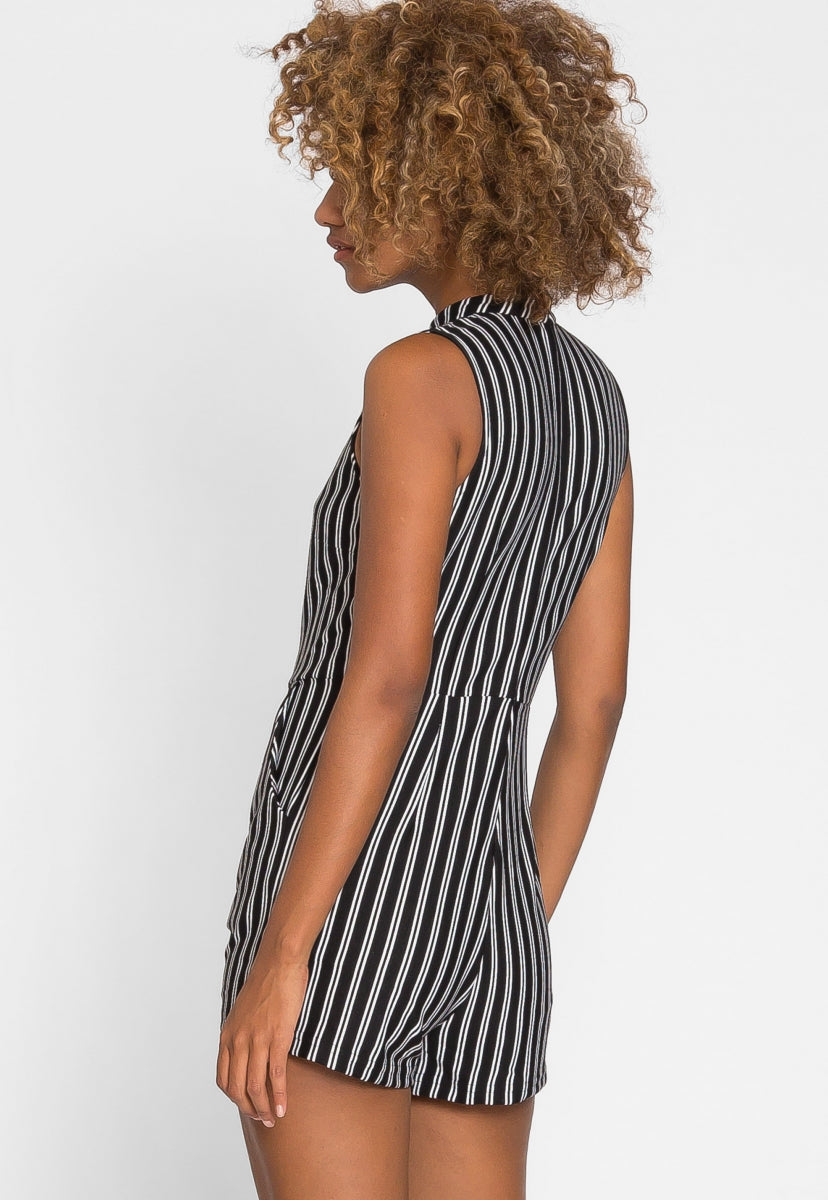 Over My Head Knit Romper in Black - Rompers & Jumpsuits - Wetseal