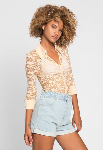 Latte Lace Bodysuit