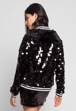 Cheers Sequin Bomber Jacket