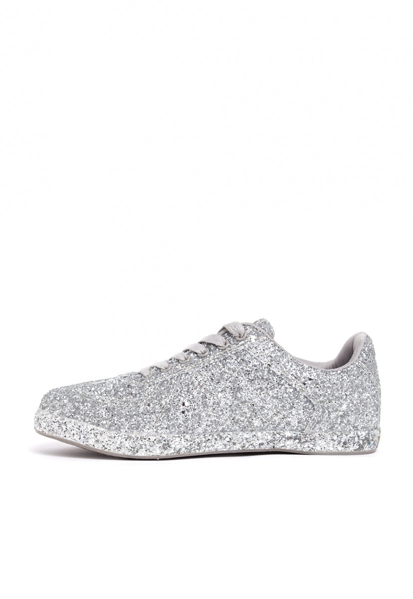 Raining Glitter Trainers - Shoes - Wetseal