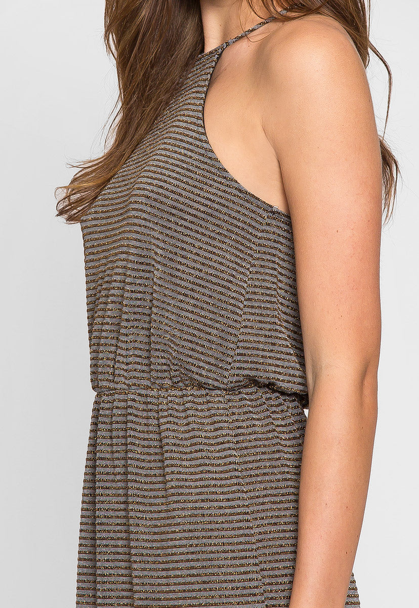 Gina Metallic Striped Maxi Dress - Dresses - Wetseal