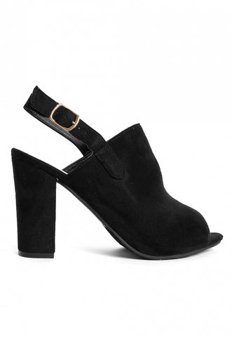 Sparrow Slingback Booties in Black