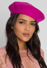 Amour Beret in Fuchsia