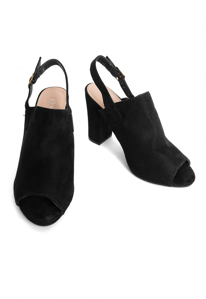 Sparrow Slingback Booties in Black - Shoes - Wetseal