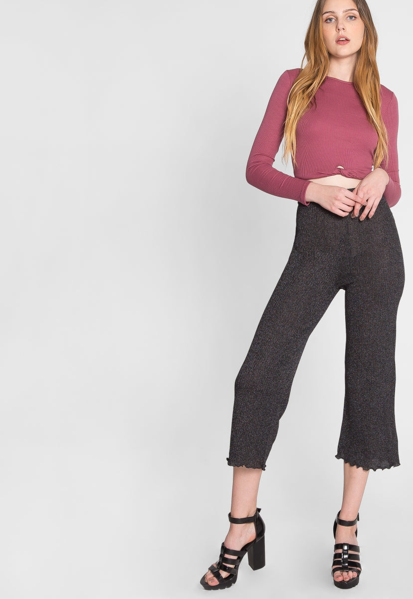 Morning Yoga Lurex Knit Pants - Pants - Wetseal