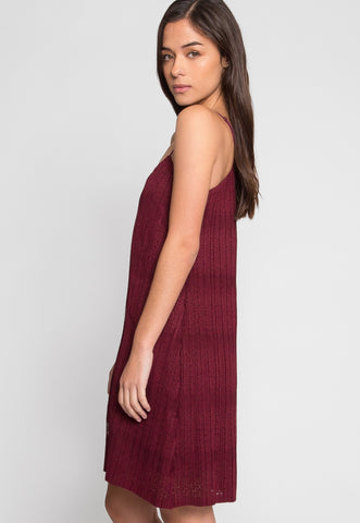After Hours Lace Dress in Wine