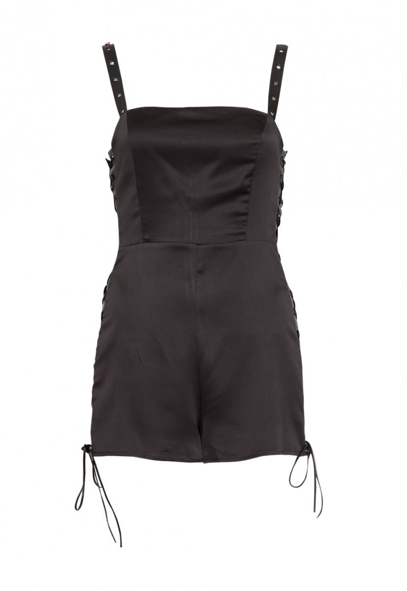 Sexy Side Lace Up Romper - Rompers & Jumpsuits - Wetseal