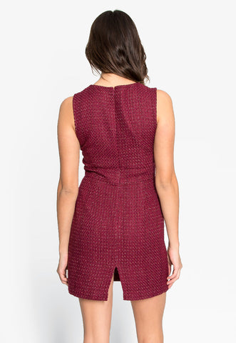 Into You Tweed Sleeveless Dress