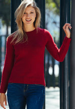 Pine Tree Pullover Sweater in Red