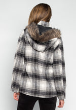 Long Way Home Hooded Plaid Coat