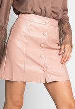 Chic Flare Faux Leather Skirt