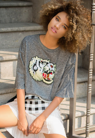 High Growl Tiger Applique Sweatshirt
