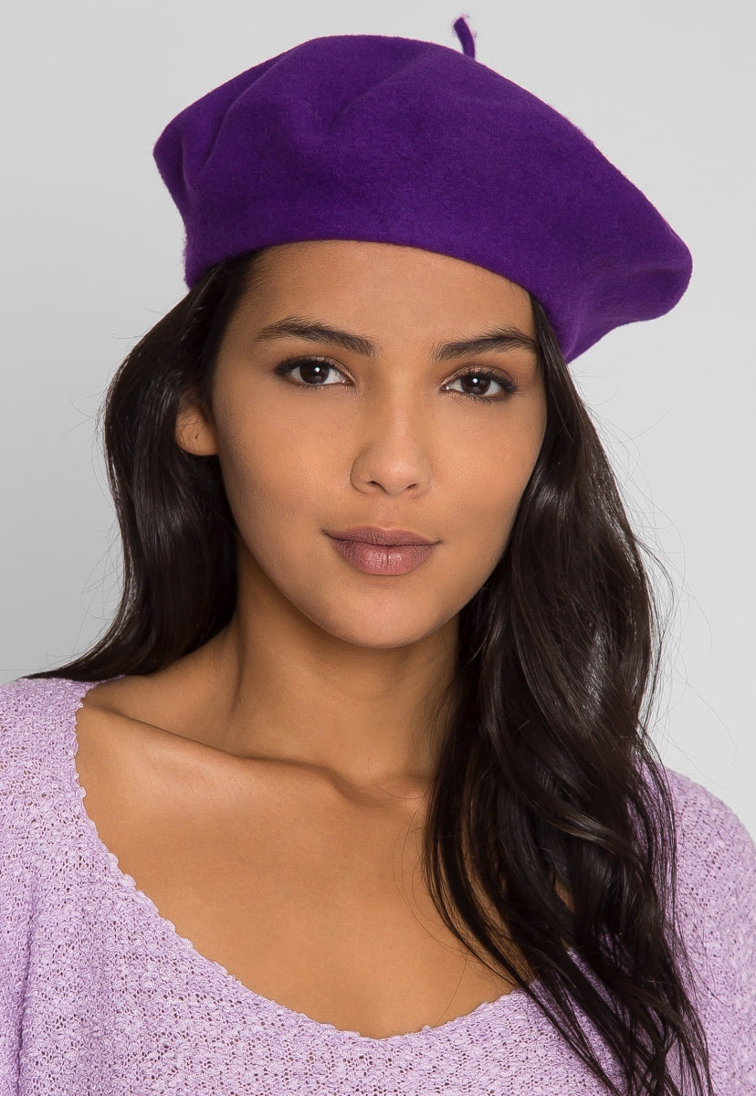 Amour Beret in Ultraviolet - Hat & Hair - Wetseal