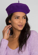 Amour Beret in Ultraviolet