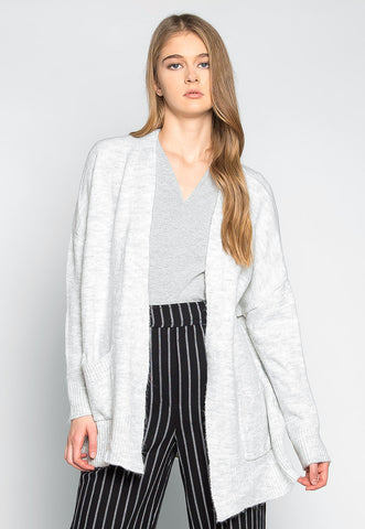 Ginger Open Front Heathered Cardigan