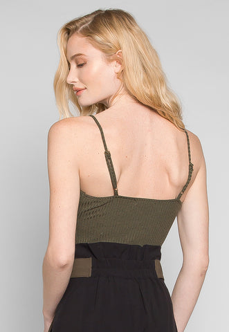 Sparrow Twisted Front Ribbed Bodysuit