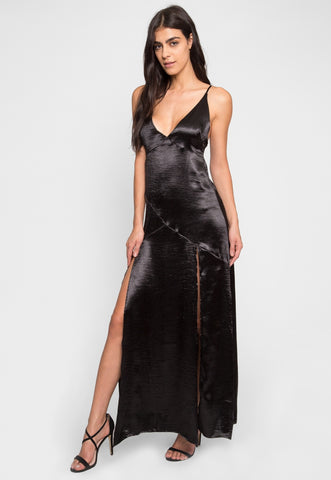Vixen Satin Maxi Dress