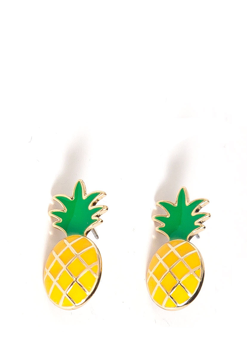 Pineapple Kisses Earrings - Jewelry - Wetseal