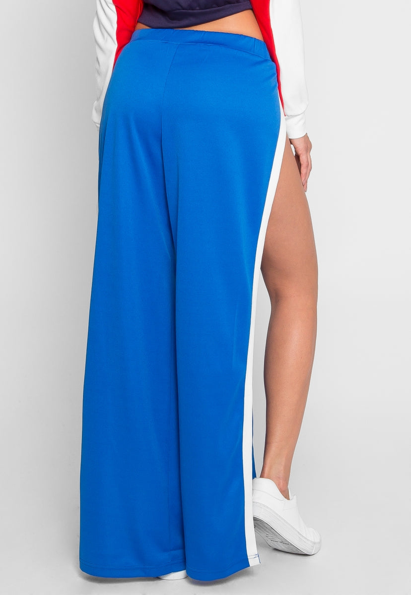 Vroom Tulip Athletic Pants in Blue - Pants - Wetseal