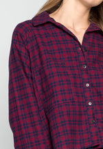 Red Maple Chest Pocket Plaid Shirt