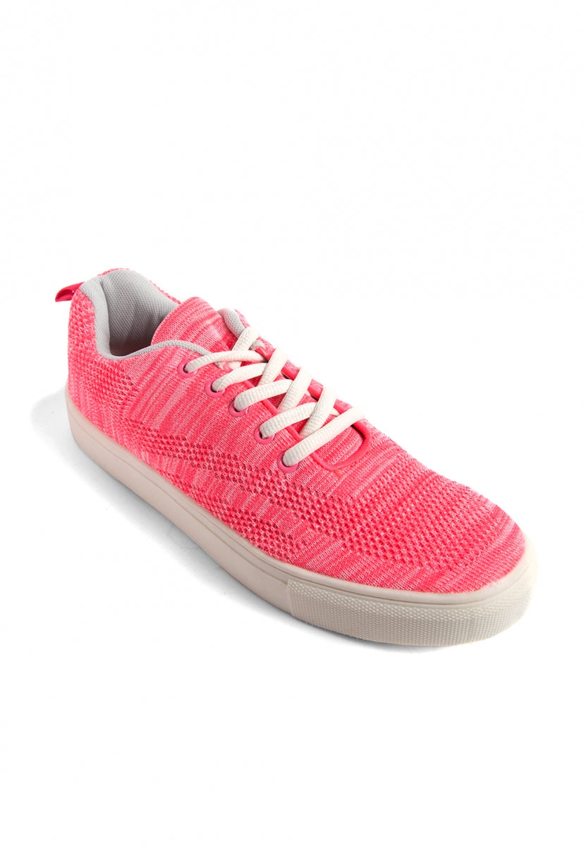 Throwback Tennis Shoes in Pink - Shoes - Wetseal