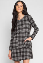 Apple Picking Plaid Pocket Dress