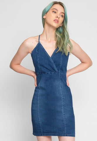 All Day Long Denim Mini Dress
