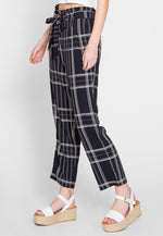 Skyscrapper Plaid High Waist Pants