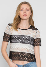 Upbeat Lace Top