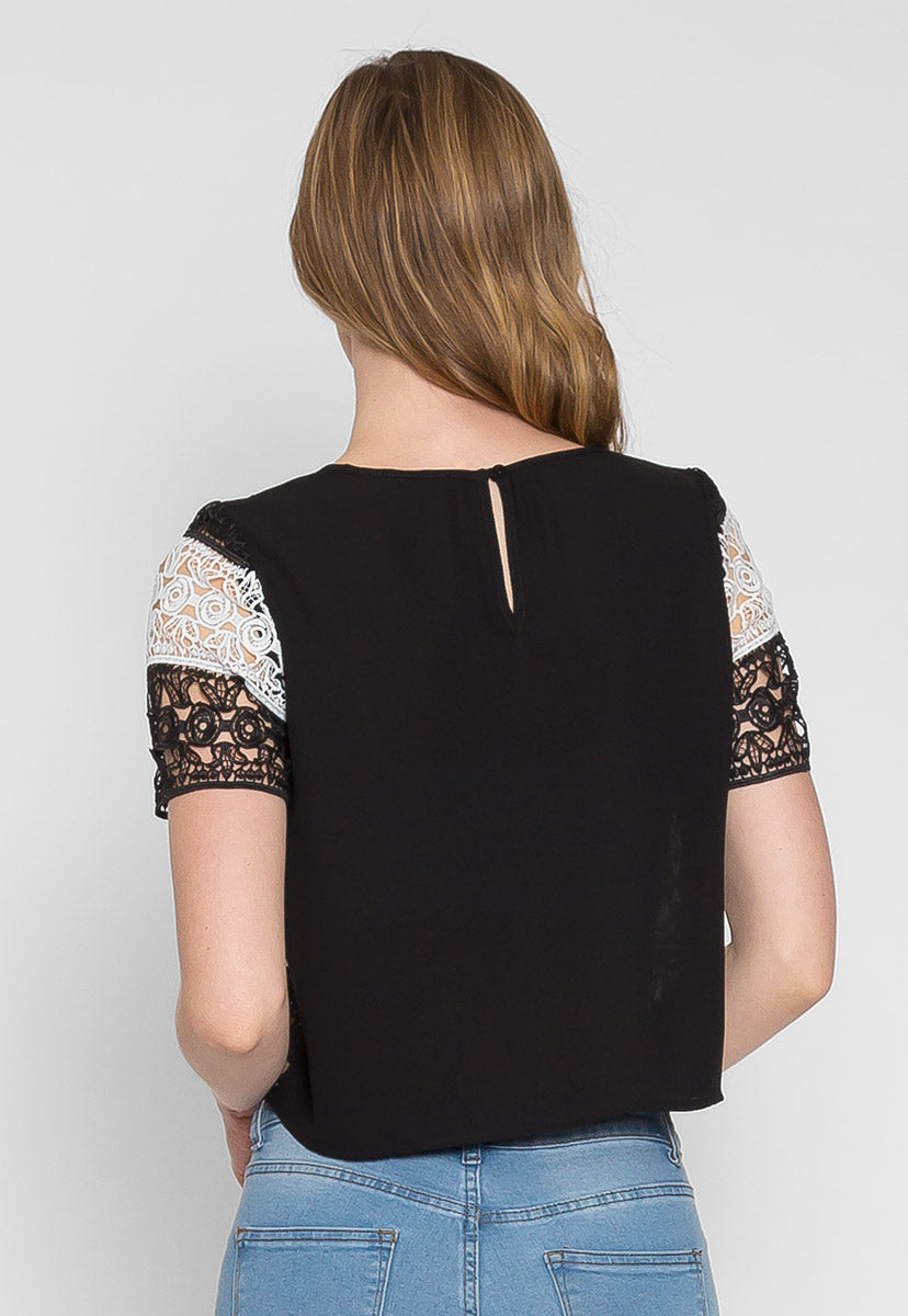 Upbeat Lace Top - Shirts & Blouses - Wetseal