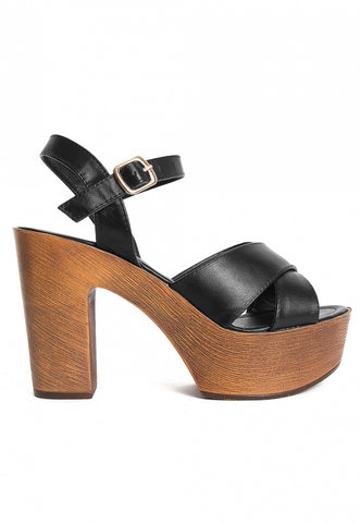 Harper Platform Heels in Black