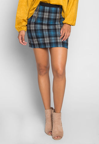 Back to College Plaid Flannel Skirt