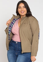 Plus Size Adventures Utility Jacket in Olive