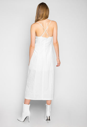 Retro Chick Spaghetti Straps Dress in White