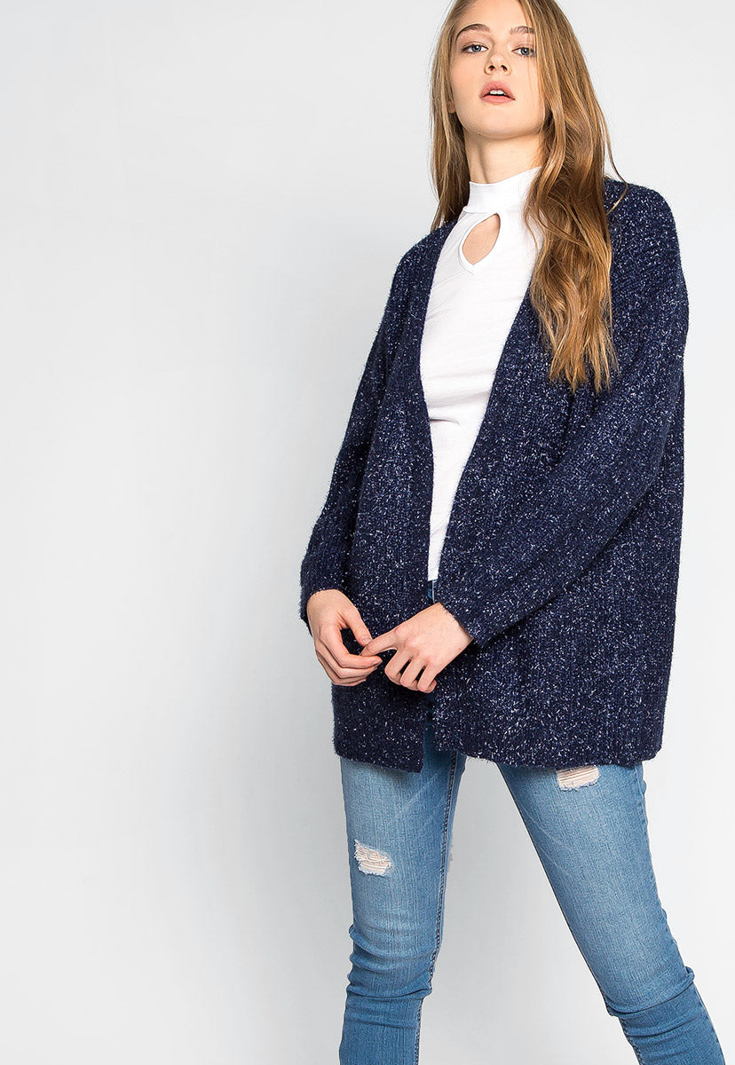 Dress You Up Tinsel Cardigan - Sweaters & Sweatshirts - Wetseal