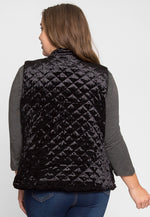 Plus Size ASpen Quilted Vest in Black