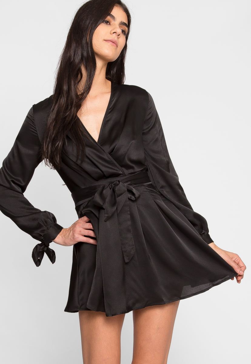 Clean Slate Satin Fit and Flare Dress - Dresses - Wetseal