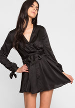 Clean Slate Satin Fit and Flare Dress