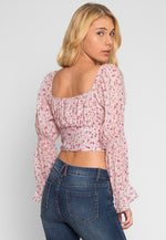Alto Floral Off Shoulder Top in Pink