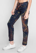 Smudge Color Skinny Jeans
