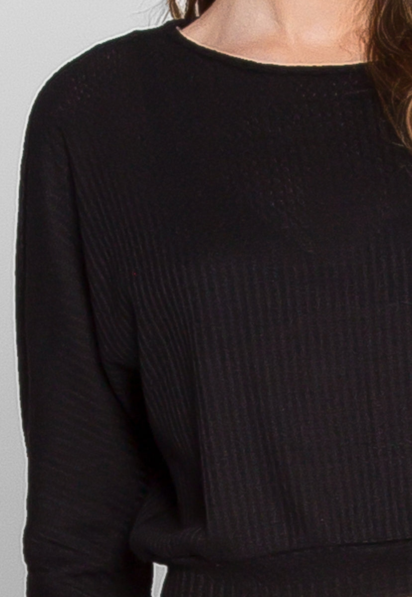 Unison Thermal Pullover Sweater in Black - Sweaters & Sweatshirts - Wetseal