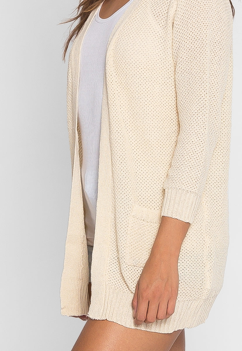 Melt Away Longline Soft Cardigan in Beige - Sweaters & Sweatshirts - Wetseal