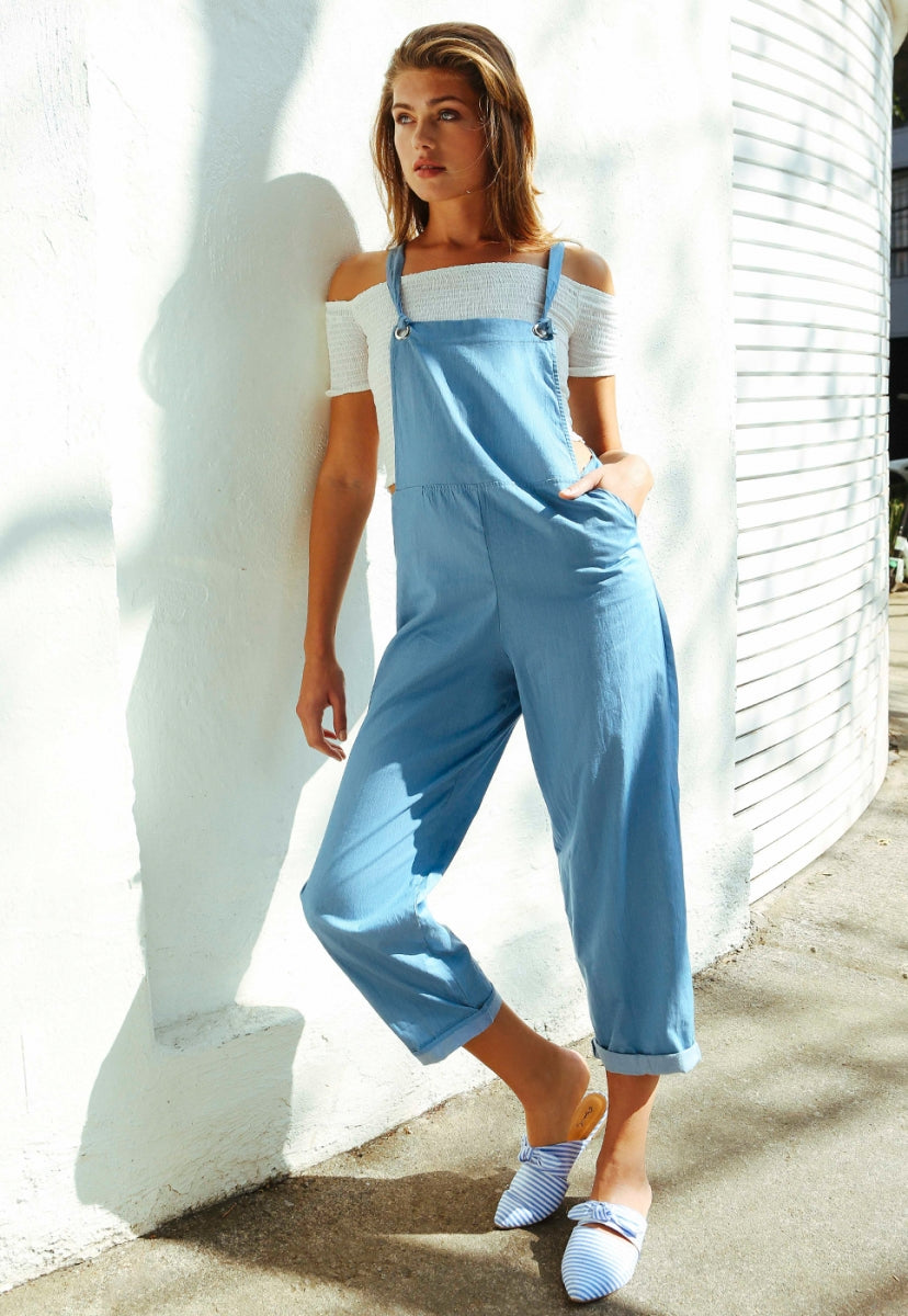 Alton Chambray Overalls - Rompers & Jumpsuits - Wetseal