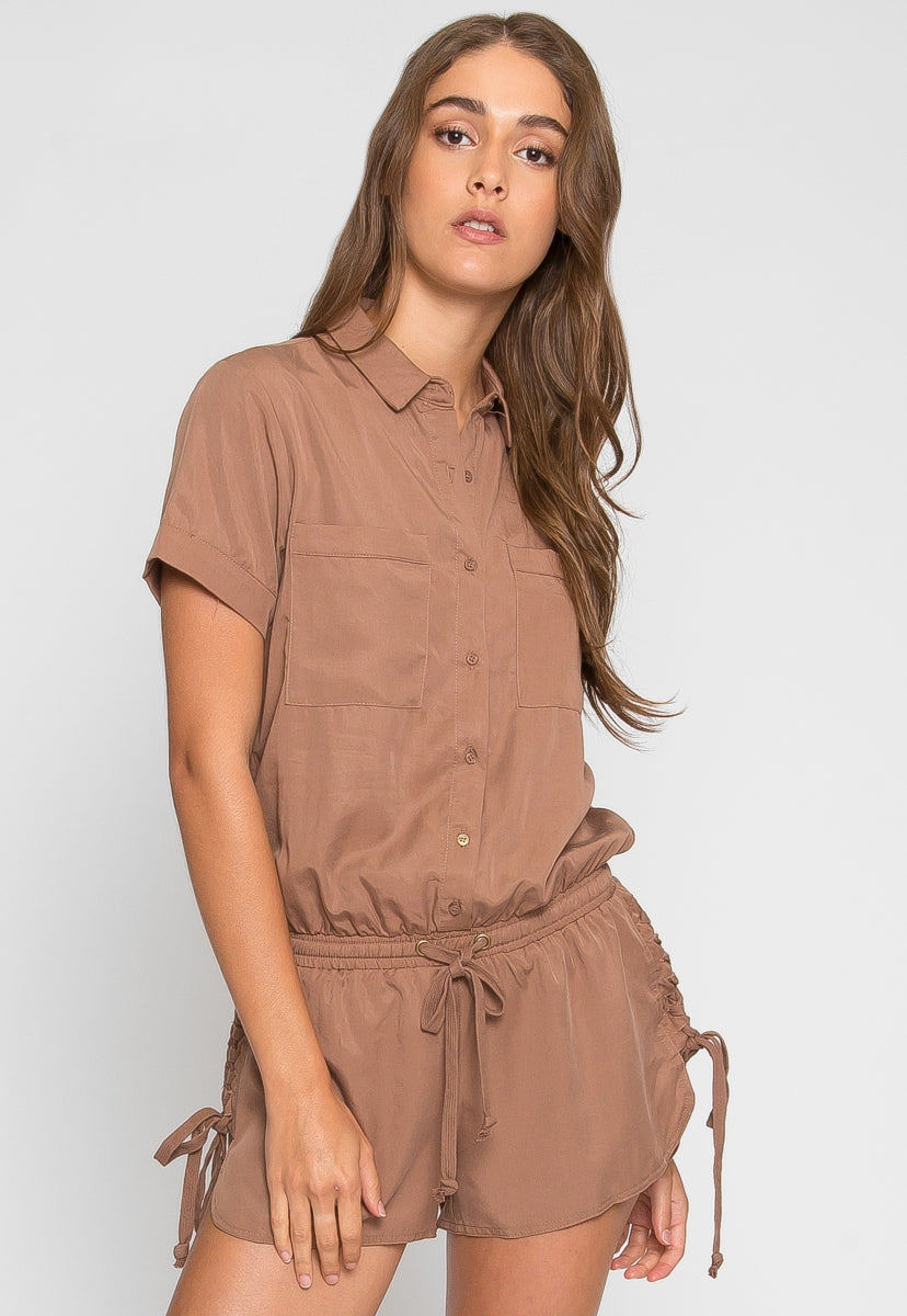 At Ease Utility Romper - Rompers & Jumpsuits - Wetseal