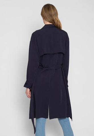 Rain Lightweight Trench Coat in Navy