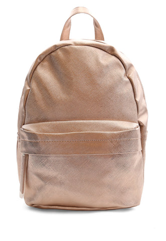 Rose Gold Metallic Backpack