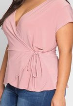 Plus Size Sweet Tooth Wrap Top