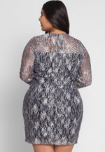 Plus Size Abstract Printed Dress